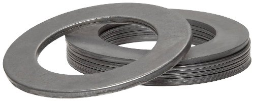 Arbor Stock - Steel Arbor Shim Assortment Kit, Matte, Full Hard, AISI 1008-1010 For Chemistry, 5/8'' ID, 1'' OD (Pack of 19)