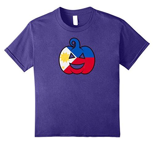 Kids Filipino Halloween Pumpkin T-Shirt Philippines Flag Costume 10 (Costumes For Halloween Philippines)