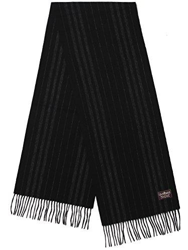 Ferre Leather (Le Ferre Men's Winter Fashionable Premium Quality 100% Pure Black & Blue & Gray Wool Long Scarf)