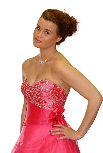 Consuello - Vestido - Sin tirantes - para mujer rojo coral