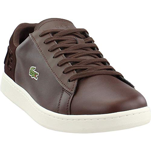 (Lacoste Men's Carnaby EVO Sneaker, Brown/Off White, 10 Medium US )