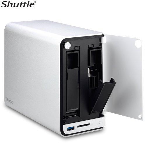 Shuttle OMNINAS KD20 RAID, 2 Bay, 8TB Max Storage, USB 3.0, 256MB, 1 GB