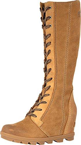 Sorel Womens Joan of Arctic Wedge II Tall Boot, Camel Brown, Size 7.5
