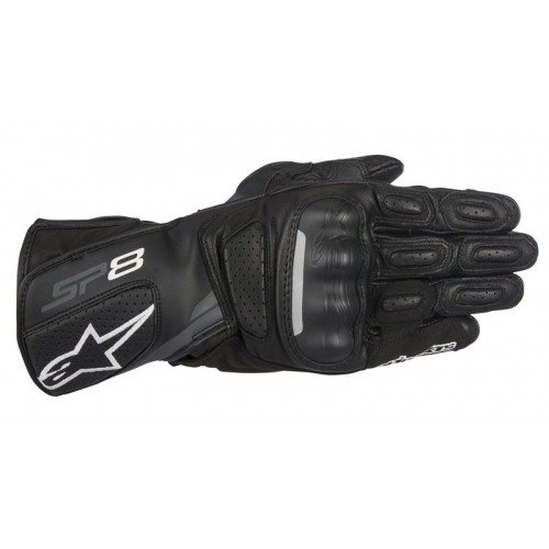 Alpinestars SP-8 v2 Leather Gloves (XX-Large) (Black/Grey)