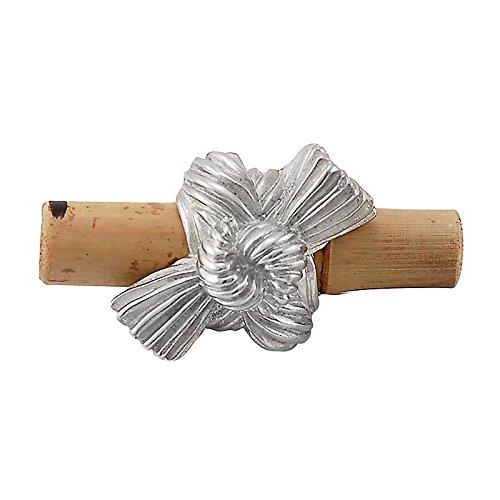 Polished Nickel Vicenza Designs K1128 Palmaria Bamboo Knot Knob Small