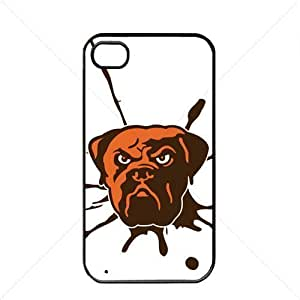 NFL American football Cleveland Browns Fans Case For Iphone 5C Cover PC Soft (Black) BY icecream design