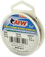 American Fishing Wire Surfstrand Micro Supreme Bare 7x7 Stainless Steel Leader Wire