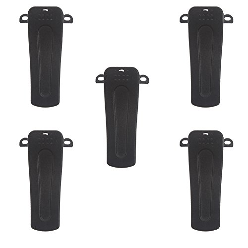 Tenq 5 X Belt Clip for Baofeng Radio H777 Bf-666s Bf-777s Bf-888s Bf-999s