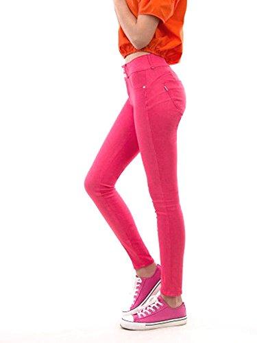 Tiffosi Pantalon Taille Rose Femme Unique gg4qrPv