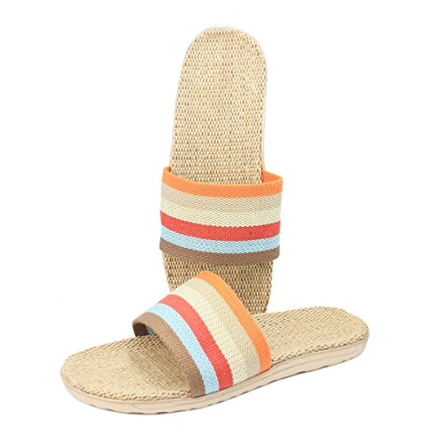 Colorful House Slippers Linen Breathable bestfur Mens bestfur Mens Lightweight qxw8z4T1g