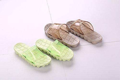 Adultes Piscine de Douche dérapante beginning Chaussons Auspicious Sandales plage anti Vert confortable 0qn5xz