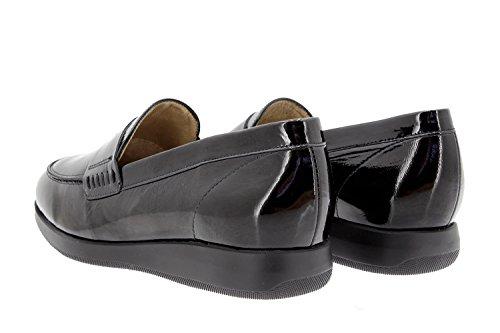 Calzado mujer confort de piel Piesanto 9634 zapato mocasín cómodo ancho Negro