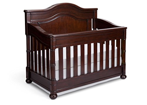 Full Size Conversion Kit Bed Rails for Simmons/Delta Childrens Hanover Park Crib-N-More Crib - Molasses by CC KITS (Image #2)