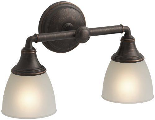 KOHLER K-10571-2BZ Devonshire Double Wall Sconce, Oil-Rubbed Bronze (Sconce Double Wall Transitional)