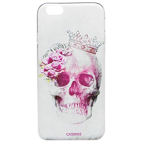 "caseez ""rose-skull"" Back Cover für Apple iPhone 6/6S"