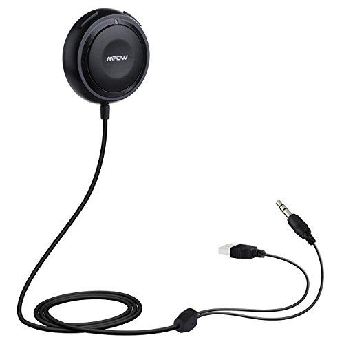 Mpow Streambot One Bluetooth 4.0 freisprecheinrichtung Audio Musik Streaming Empfänger Adapter Audiogeräte for Kfz Auto Lautsprechersystem mit 3.5 mm Klinke, Magnetic Base,Freisprechfunktion and Dual USB port Kfz Ladegerät