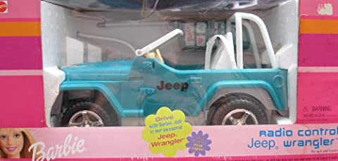 Barbie Radio Control JEEP WRANGLER Vehicle w Working HEADLIGHTS (2000)