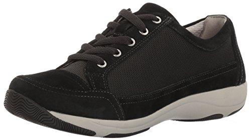 Dansko Women's Harmony Fashion Sneaker, Black Suede, 40 EU/9.5-10 M US