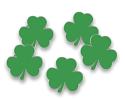 Forge Irish Green Shamrock Enamel Lapel Pin Saint Patrick's Day (Wholesale) (10 Pins)