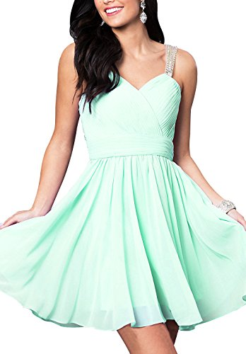 with Beaded Homecoming Dress Short Chiffon Corset Mint Prom Green Beauty Sweetheart Bridal BXgffq