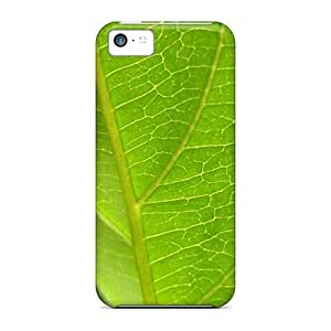 Pretty ZxMLLbf589TmjfX Iphone 5c Case Cover/ Leafgreen Series High Quality Case