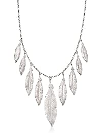 "<span class=""a-offscreen"">[Sponsored]</span>Italian Sterling Silver Feather Fringe Necklace. 18"""