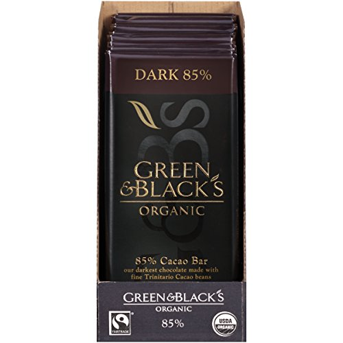 (Green & Black's Organic Dark Chocolate, 85% Cacao, 3.5 Ounce (Pack of 10) )