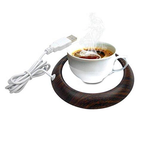 DTlife Desktop USB Heated Coffee Mug Cup Warmer Tea Milk for Office Home Use