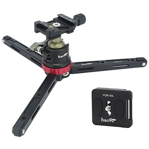 Haoge HTP-01 Table Top Tabletop Tripod Desktop Stand with Lo