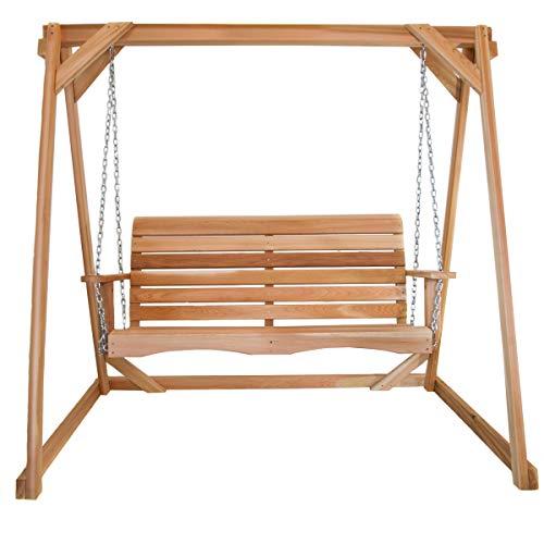 All Things Cedar AF72-S 6-ft Frame with 4-ft Swing Cedar Garden Swing Set