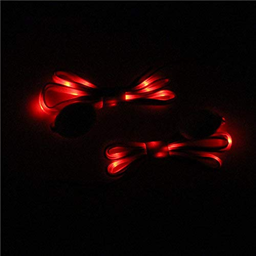LED Light Up Flashing Shoelaces w/3 Modes Material (Red)