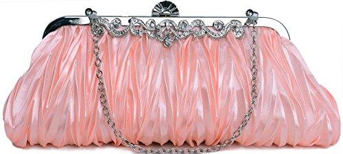 - Pulama 1920s Crossbody Bag for Women, Vintage Evening Clutch Purse Wallet, Peach Pink