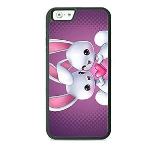 Case Fun Case Fun Rabbits in Love TPU Rubber Back Case Cover for Apple iPhone 6 4.7 inch