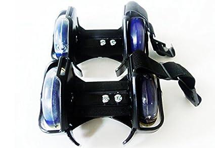 new arrivals 435c0 6ec5e Flashing Roller Flasher Light Up Roller Skate Ruote per scarpe Fashion Cool  (Nero)