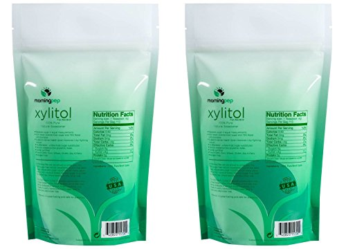Pack of 2 Morning Pep Pure Birch Xylitol (Keto Diet Friendly) Sweetener 1 LB (Not from Corn) Non GMO - Kosher - Gluten Free - Product of USA. Total of 2 Lbs (32 OZ) by Morning Pep (Image #2)