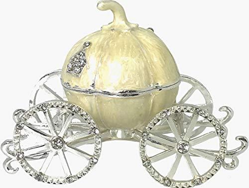 - VI N VI Beige Pumpkin Carriage Jewelry Box Trinket Box Hand Painted Gifts