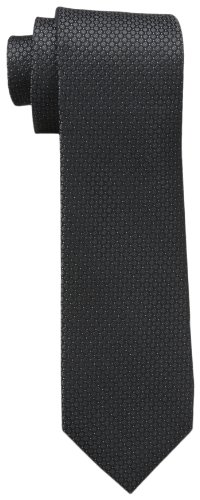 Calvin Klein Men's Steel Micro Solid A Tie, Black, Regular