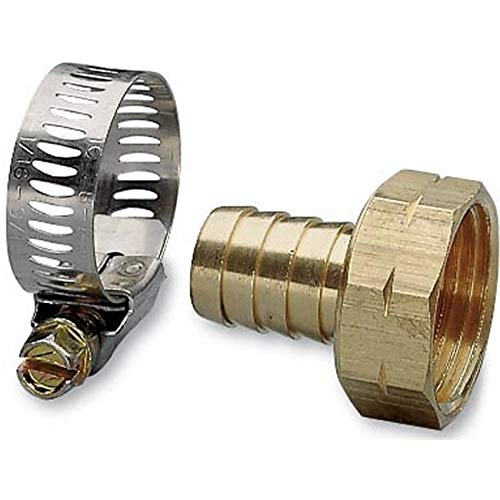 OKSLO LAWNITATOR 63 in. Female Brass Hose Repair with Worm Gear Clamp from OKSLO