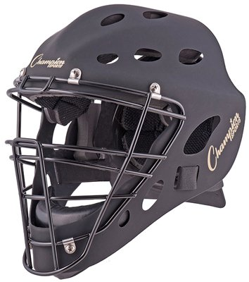 Youth Hockey Style Catcher's Helmet in Matt Black by Champion Sports
