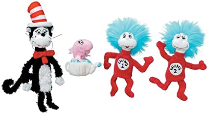 Cat in the Hat Seuss Finger Puppets Boxed Set Thing 1 /& 2 Fish NEW Dr