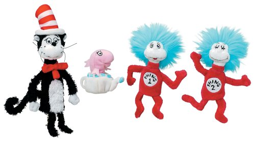 Manhattan Toy Dr. Seuss Cat in the Hat Finger Puppet Boxed Set (Stuffed Puppet Toy)