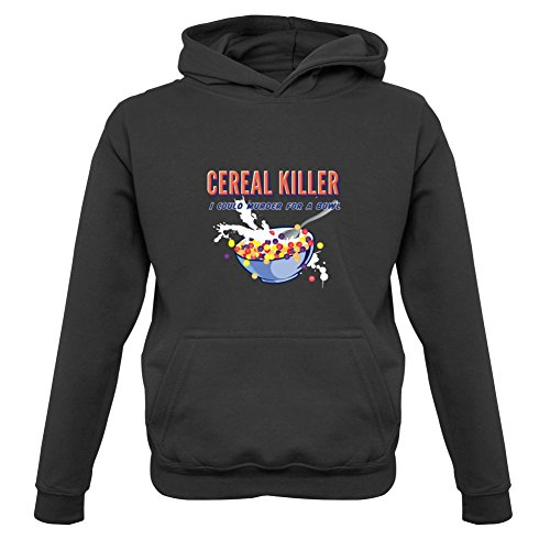 Cereal Killer - Childrens / Kids Hoodie - Black - M (5-6 Years)