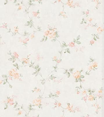 Brewster Mirage Cameo Rose IV Swag Trail Wallpaper