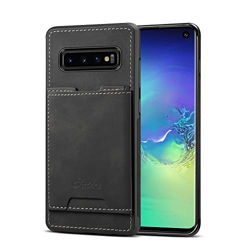 S10 Cover Samsung Galaxy 6.1inches, Soft Pu Protective Slim fit Thin Protective Card Sleeve Kickstand Fashion Nice Simple Girl Boy - Card Sleeves Neo