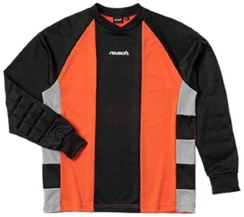 (Reusch Youth Barcelona II Longsleeve Goalkeeper Jersey-Orange/Black/Grey (Large))