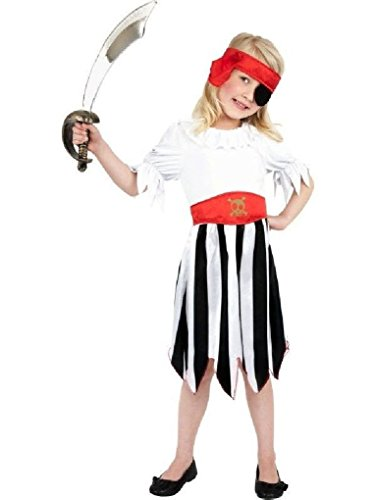 [Ponce Girls Pirate Costume High Seas Buccaneer Dress] (High Priest Zombie Costumes)