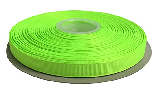Duoqu 1/2 Inch Wide Grosgrain Ribbon 50 Yards Roll Multiple Colors (Key Lime) ()