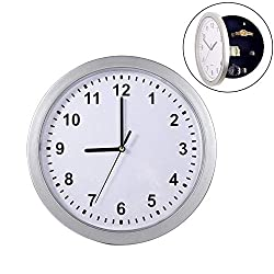MAGT Wall Clock Safes, Unusual Hidden Secret Wall Clock Safe Container Box with Diversion Compartment for Money Jewelry Cash