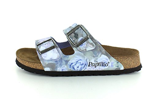 Flor Papillio Arizona Rose Silky Sandals Womens Blue Birko prr6wRtq