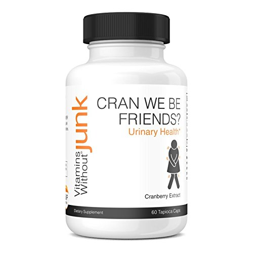 Vitamins Without Junk Cran We Be Friends? (Cranberry Extract Supplement) UTI Relief, 500 mg, 60 Vegetarian Tapioca Based Capsules - Dairy Free - ()